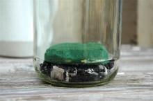 Add wet foam to jar